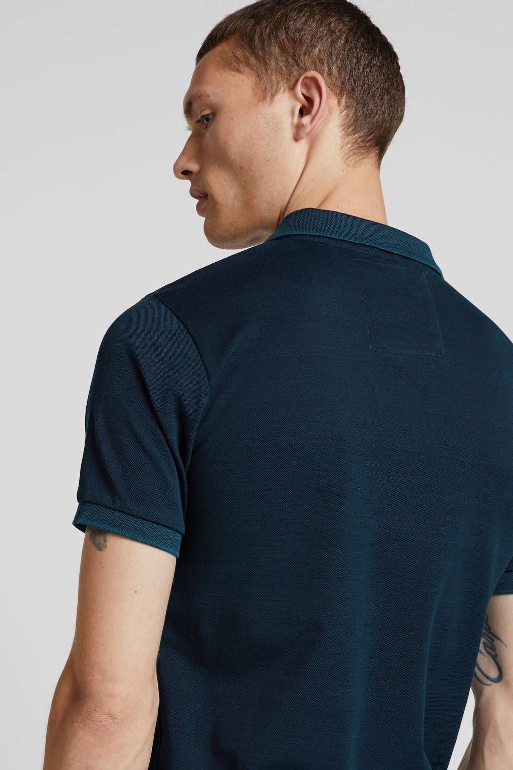 Superdry regular fit polo donkerblauw, Donkerblauw