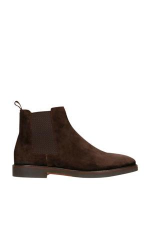 suède chelsea boots bruin
