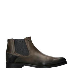 leren chelsea boots grijs
