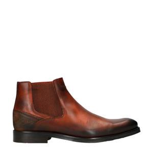 leren chelsea boots cognac