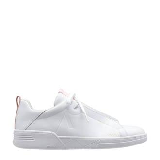 Uniklass Leather S-C18 leren sneakers wit/roze