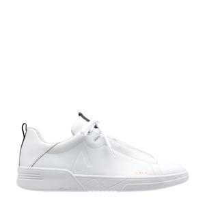 Uniklass Leather S-C18 leren sneakers wit/donkerblauw