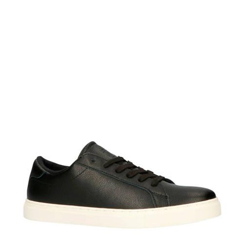 Blend leren sneakers zwart
