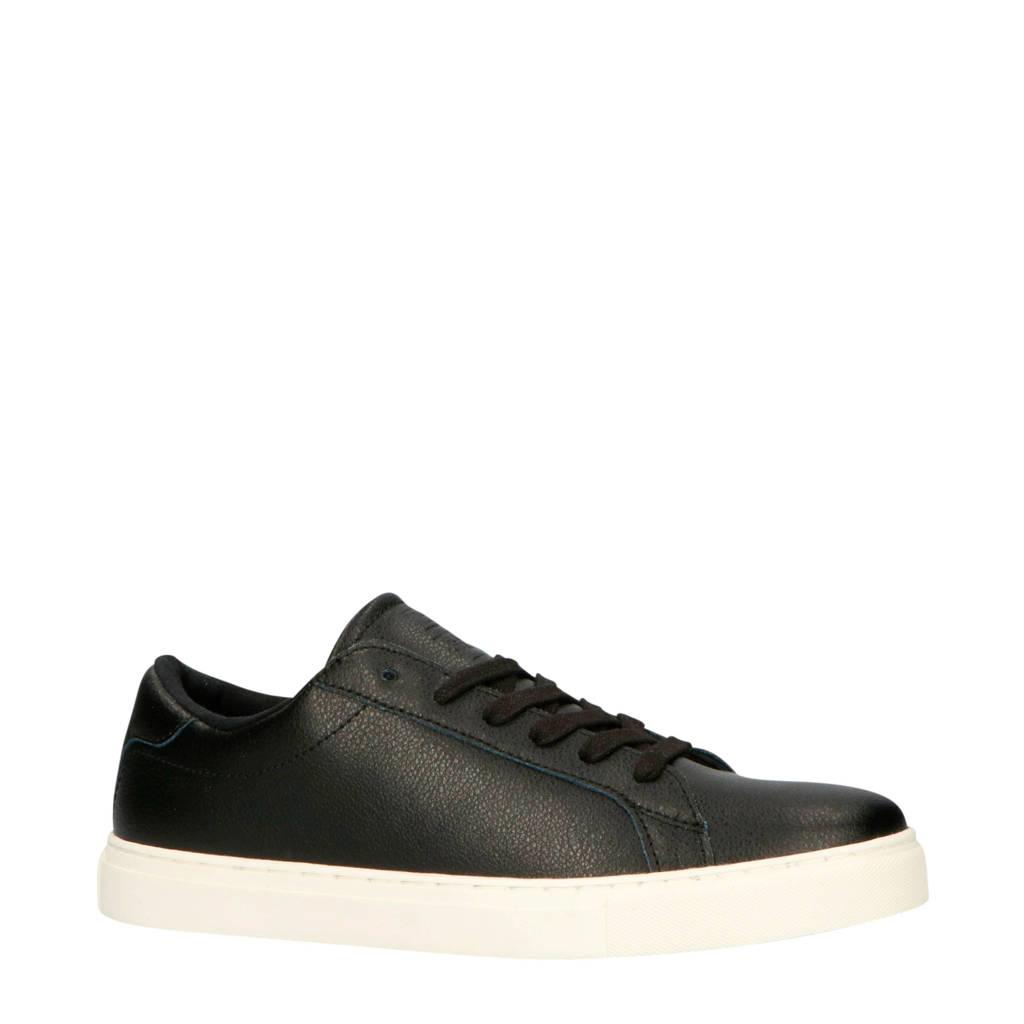 Blend   leren sneakers zwart, Zwart