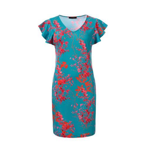 dayz Xevise jurk met volant, Deze damesjurk van dayz is gemaakt van jersey en heeft een bloemenprint. De jurk met korte mouwen heeft verder een V-hals.details van deze jurk:stijlnaam: XevisevolantdetailExtra gegevens:Merk: dayzKleur: BlauwModel: Jurk (Dames)Voorraad: 1Verzendkosten: 0.00Plaatje: Fig1Plaatje: Fig2Maat/Maten: XXLLevertijd: direct leverbaar