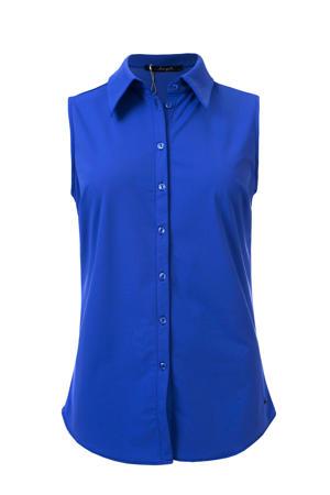 blouse Xava van travelstof kobalt