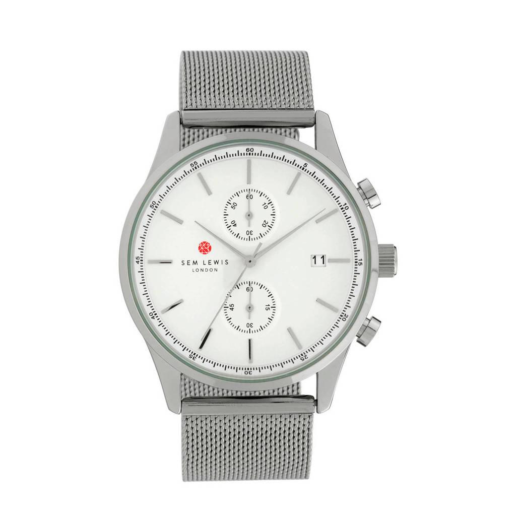 Sem Lewis Chronograaf horloge SL1100020 lichtzilver