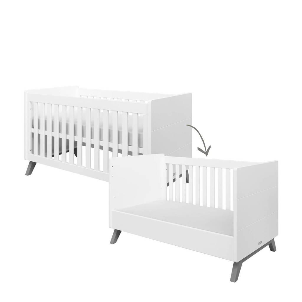 Bopita ledikant / bedbank Levi white/grey wash 70x140 cm, White/Grey