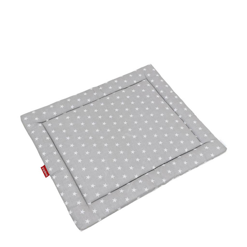 Bopita boxkleed stars grijs/wit 95x75 cm, Grijs/wit