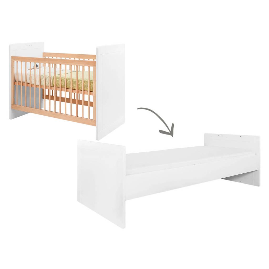 Bopita omvormbaar bed Sleep wit/naturel 60x120/90x200 cm, White/Natural