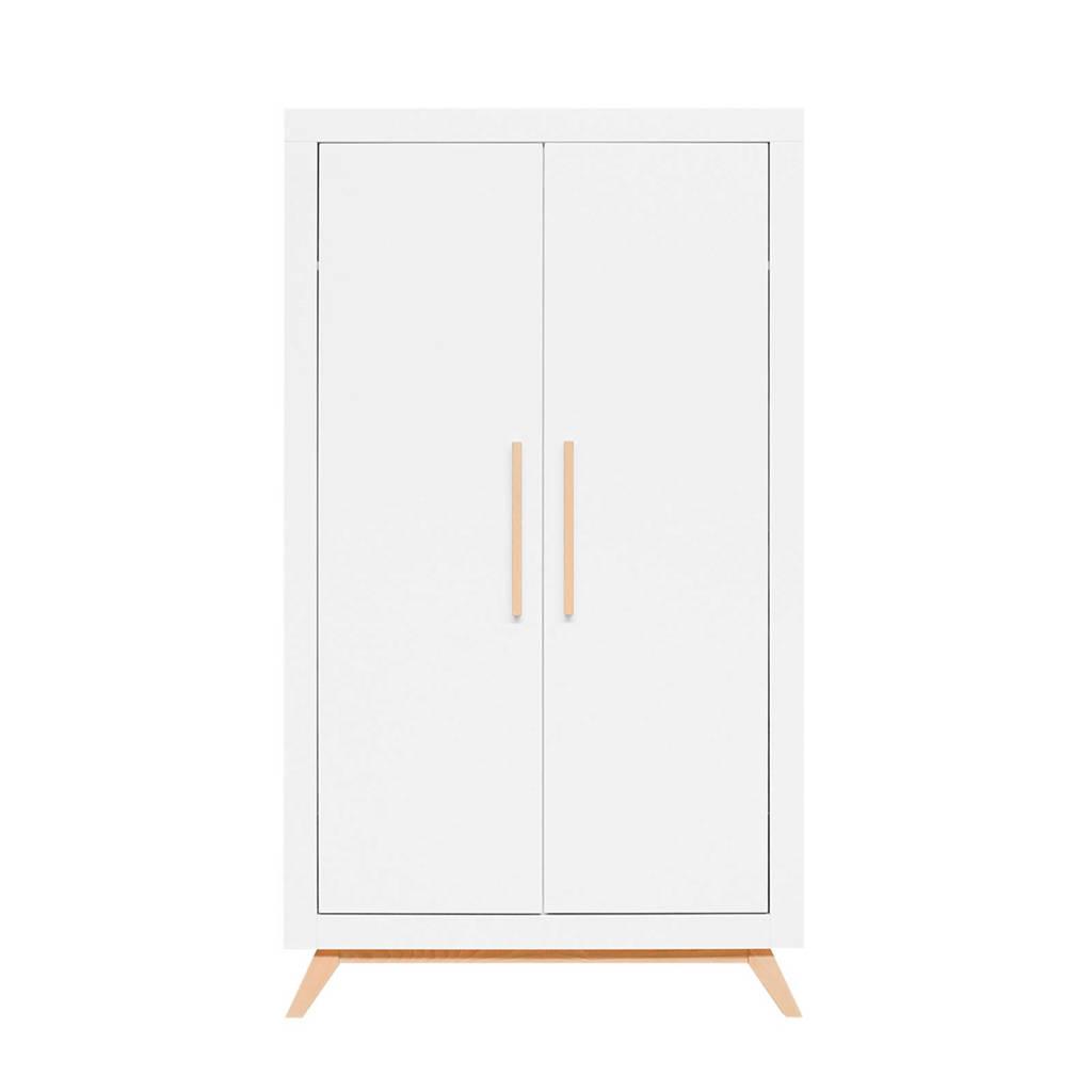 Bopita 2-deurs  kledingkast Fenna wit/naturel, White/Natural