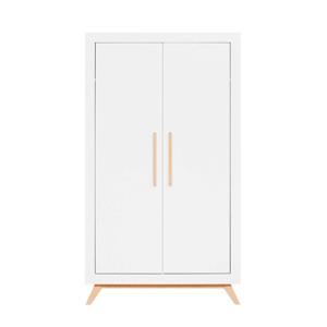 2-deurs  kledingkast Fenna wit/naturel