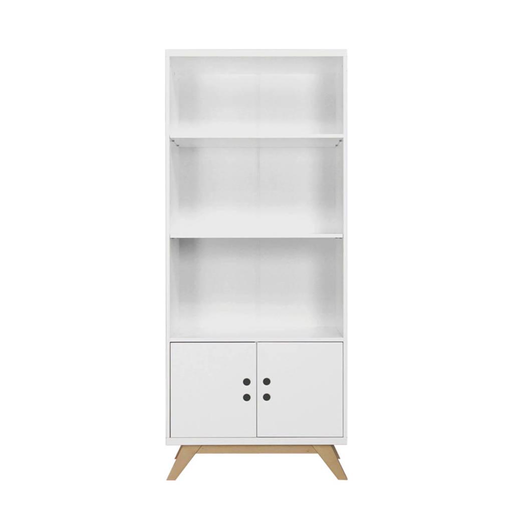 Bopita boekenkast Lynn wit/naturel, Wit/naturel