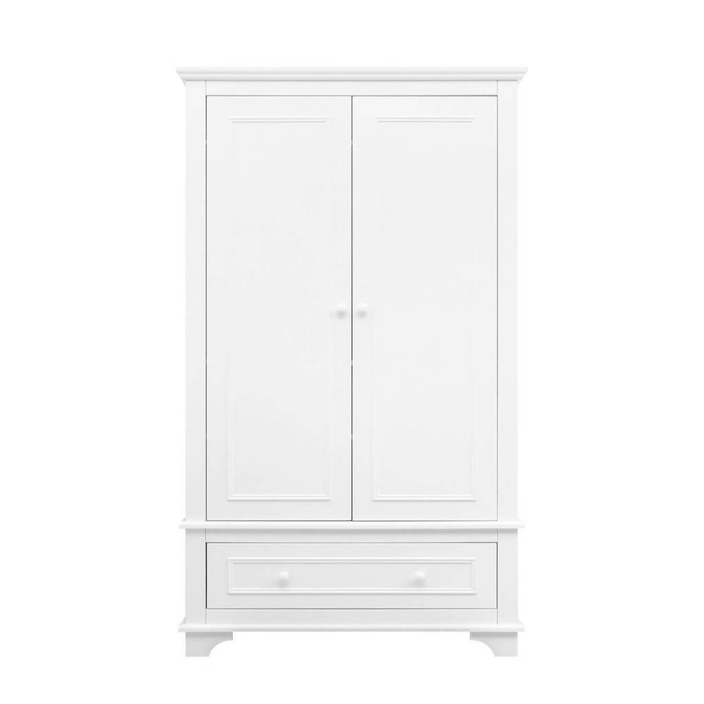 Bopita 2-deurs kledingkast xl Charlotte met lade wit, Wit