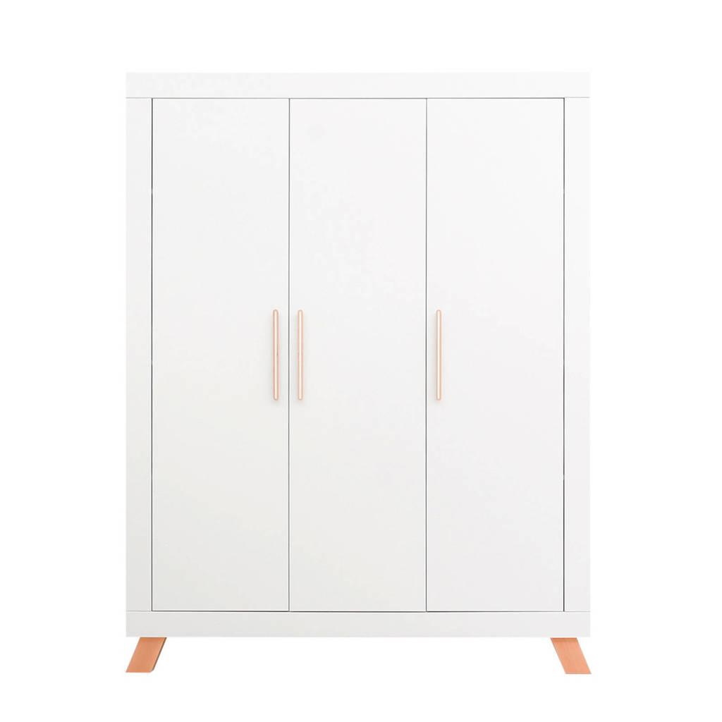 Bopita 3-deurskast Lisa wit/naturel, White/Natural
