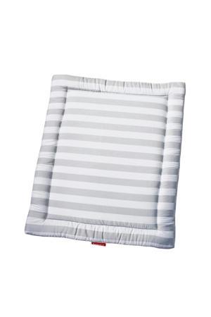 boxkleed streep grijs/wit 95x75 cm