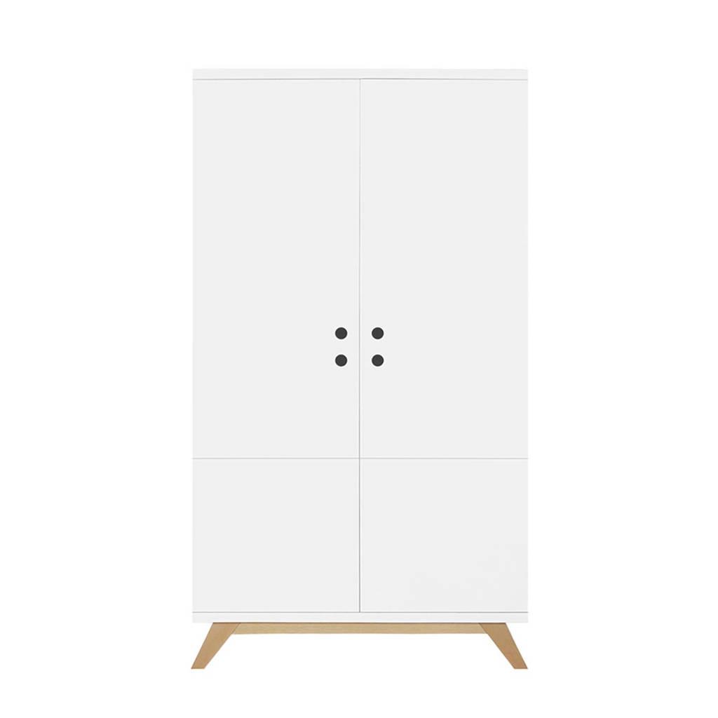Bopita 2-deurskast lynn wit/naturel, White/Natural
