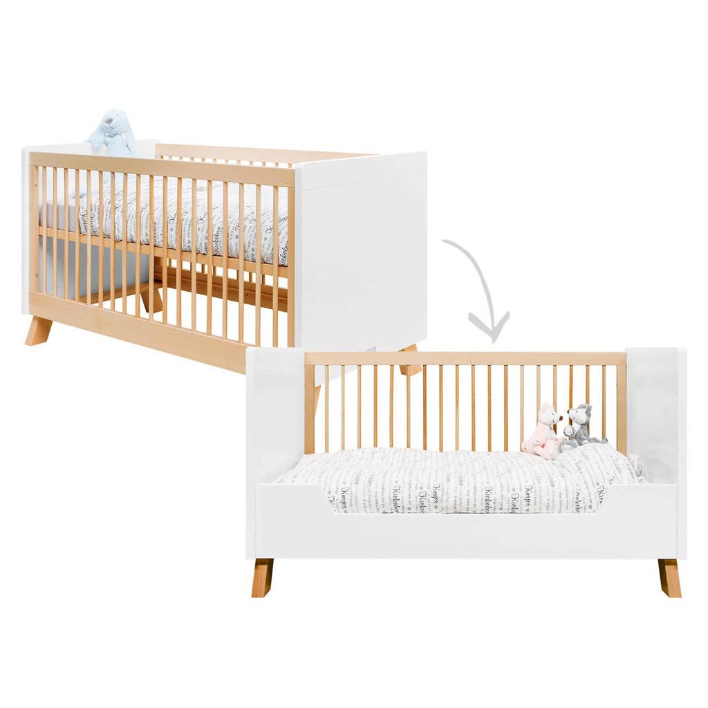 Bopita ledikant / bedbank Lisa white/naturel wash 70x140 cm, White/Natural
