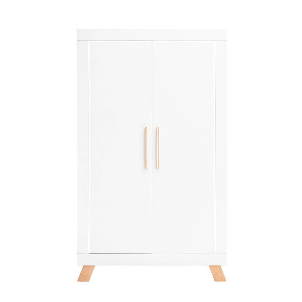 Bopita 2-deurskast Lisa wit/naturel, White/Natural
