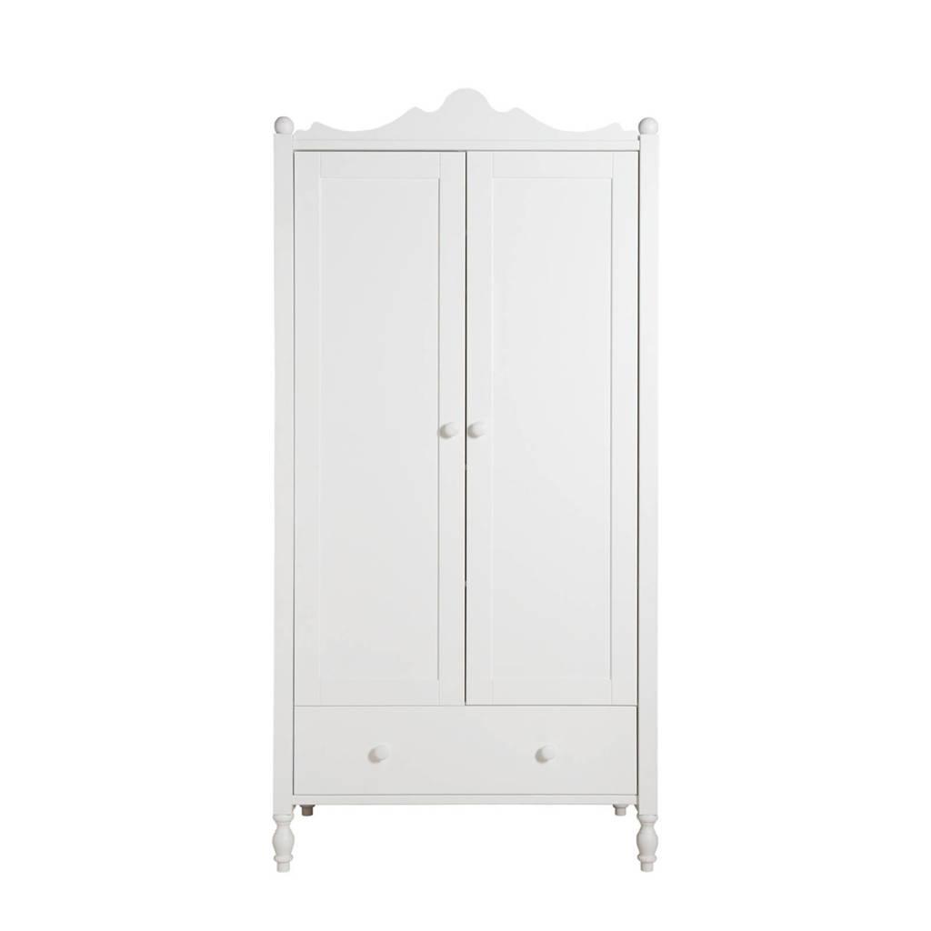 Bopita 2-deurskast met lade Belle wit, Wit