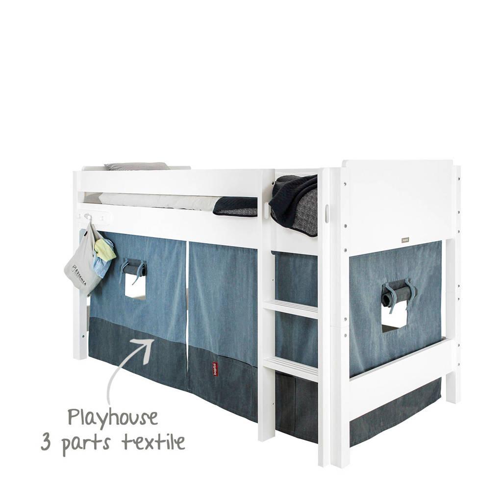 Bopita speelhuisje textiel denim blue/navy blue, Blauw/zwart
