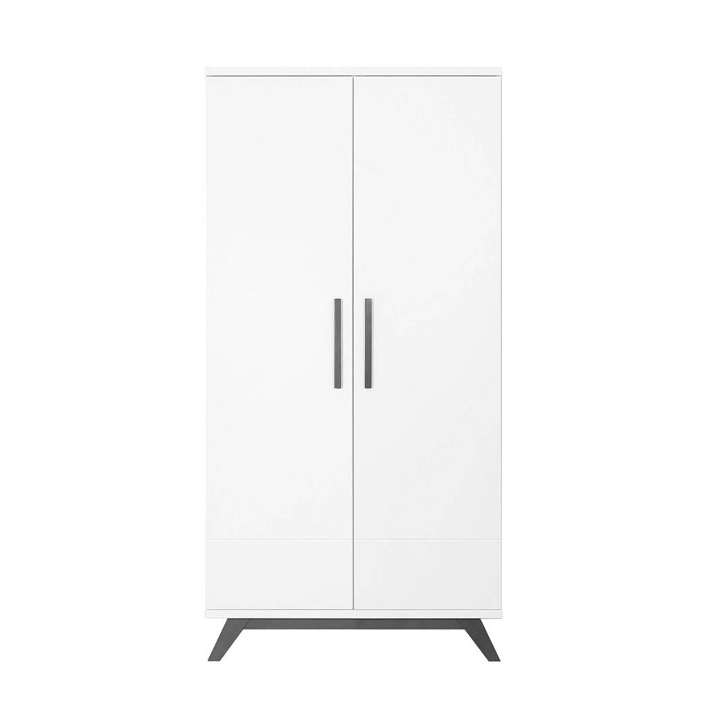Bopita 2-deurskast xl Levi white/grey wash, White/Grey