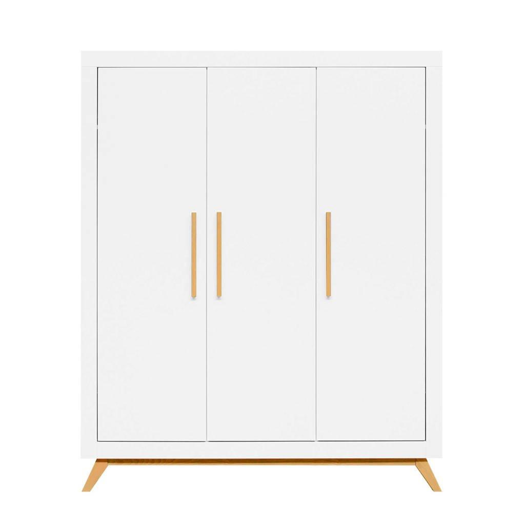 Bopita 3-deurskast fenna wit/naturel, White/Natural