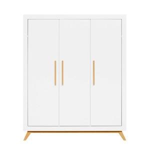 3-deurskast fenna wit/naturel