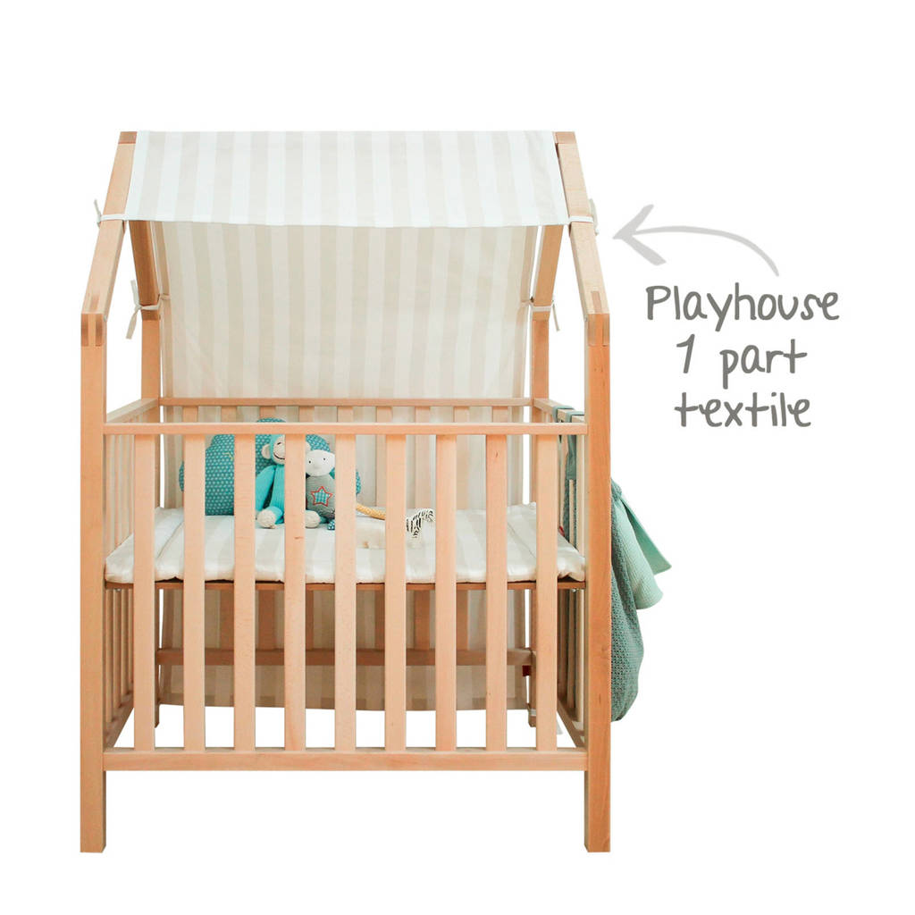 Bopita speelhuisje textiel naturel/wit, Wit/naturel