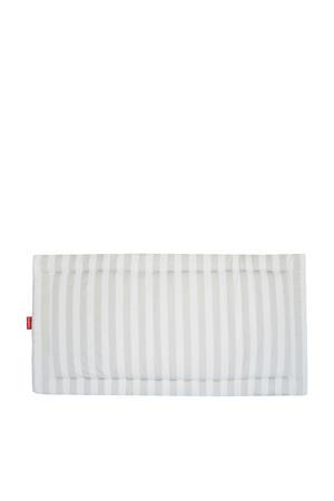 boxkleed twin XL streep lichtbeige/wit  145x77 cm