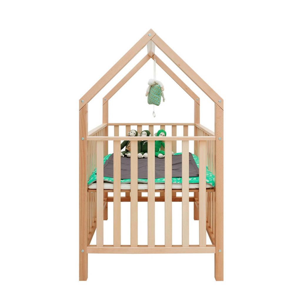 Bopita box + speelhuisje naturel, Naturel