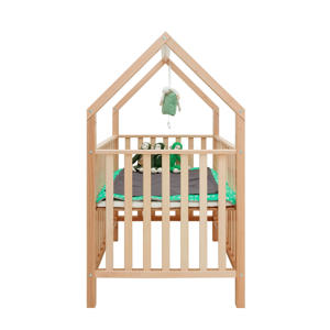 box + speelhuisje naturel
