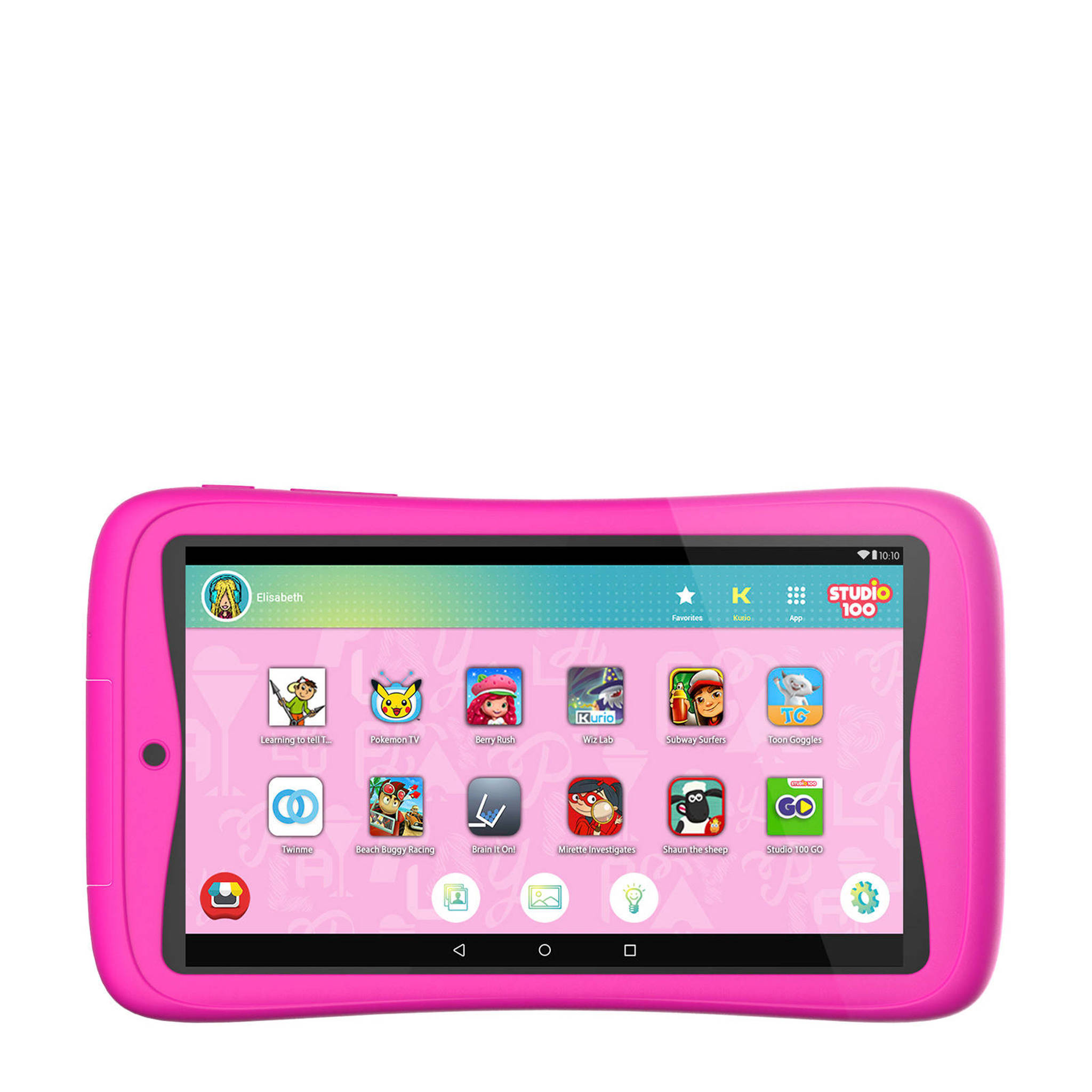 Roze Kinder Tablet.Tab Connect Studio 100 Kindertablet Roze16gb