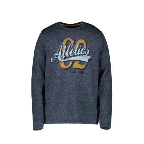 Cars sweater met printopdruk grijs/blauw/oker