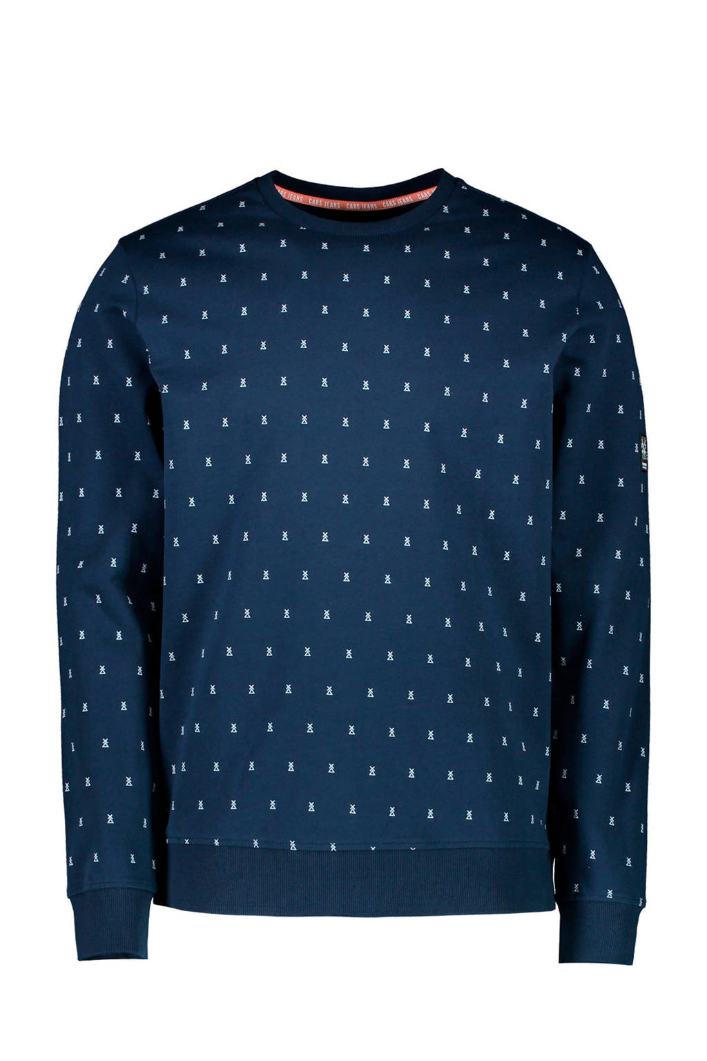 Cars sweater met all over print donkerblauw, Donkerblauw