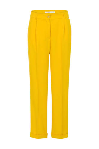 straight fit pantalon geel