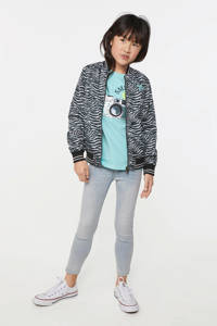 WE Fashion reversible zomerjas met zebraprint zwart/wit, Zwart/wit