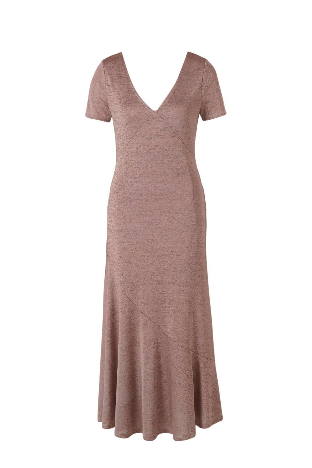 Mango jersey jurk oudroze, Oudroze