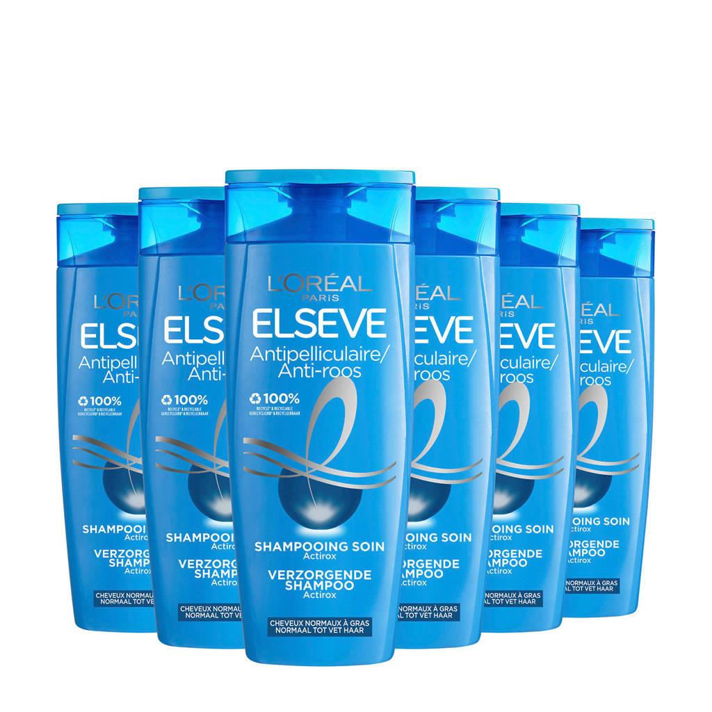 L'Oréal Paris Elvive Anti-roos shampoo - 6x 250ml multiverpakking