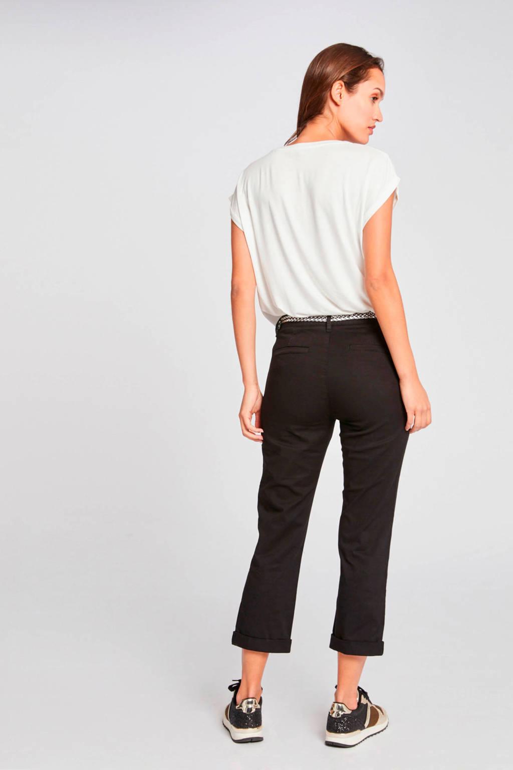 Morgan cropped slim fit broek Morgan zwart, Zwart