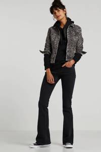 LTB spijkerjasje met panterprint grijs/zwart, Grijs/zwart