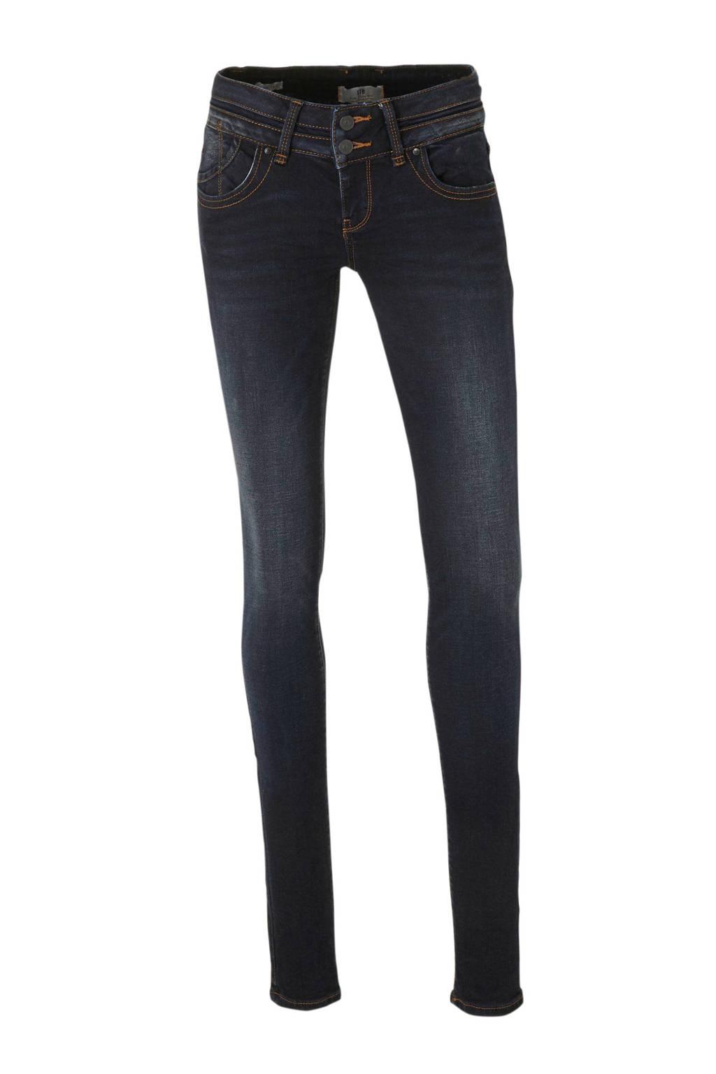 LTB low waist super skinny jeans Julita X donkerblauw, Donkerblauw