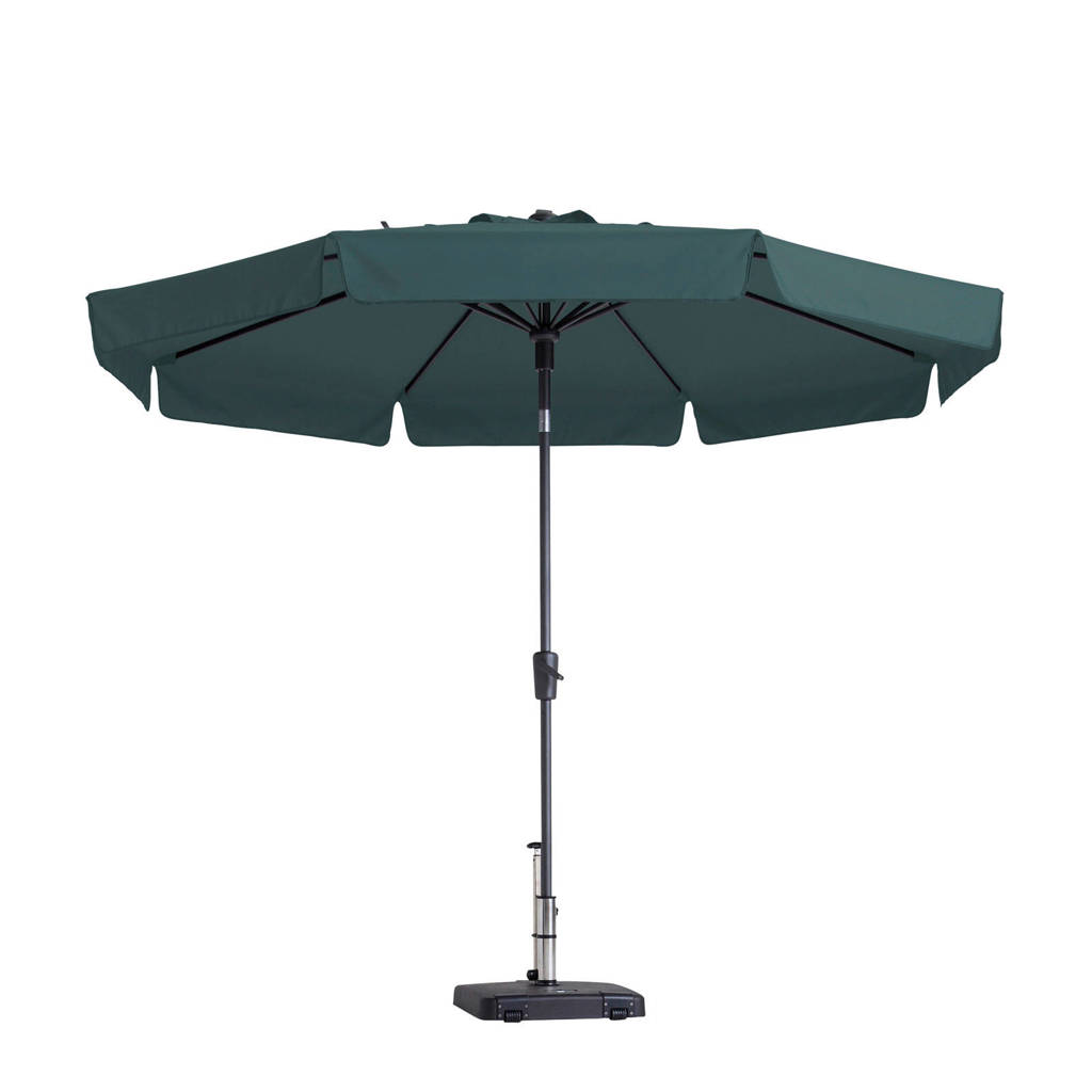 Madison parasol Flores luxe (ø300 cm), Donkergroen