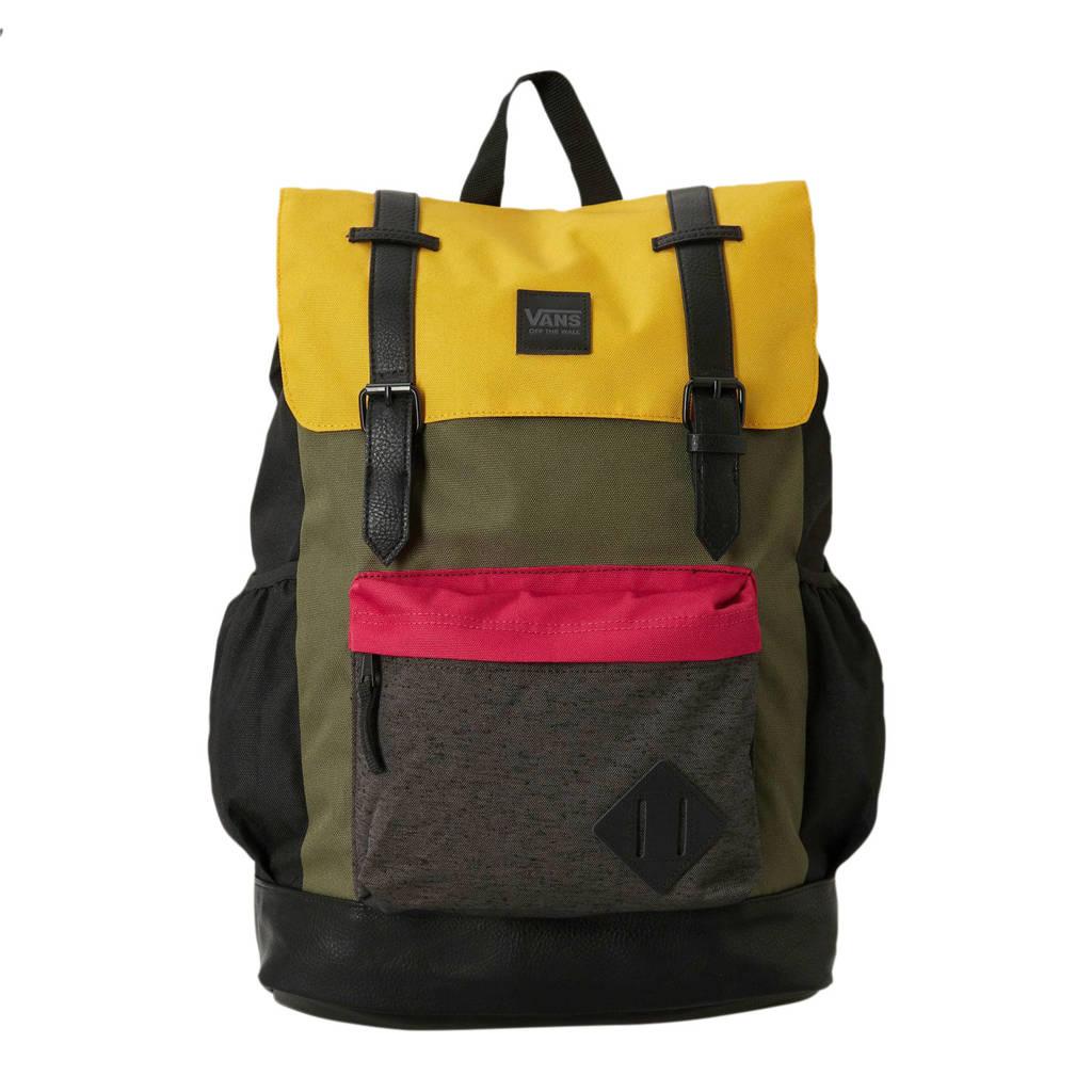 VANS   Crosstown rugzak groen/zwart, Groen/zwart/geel/rood