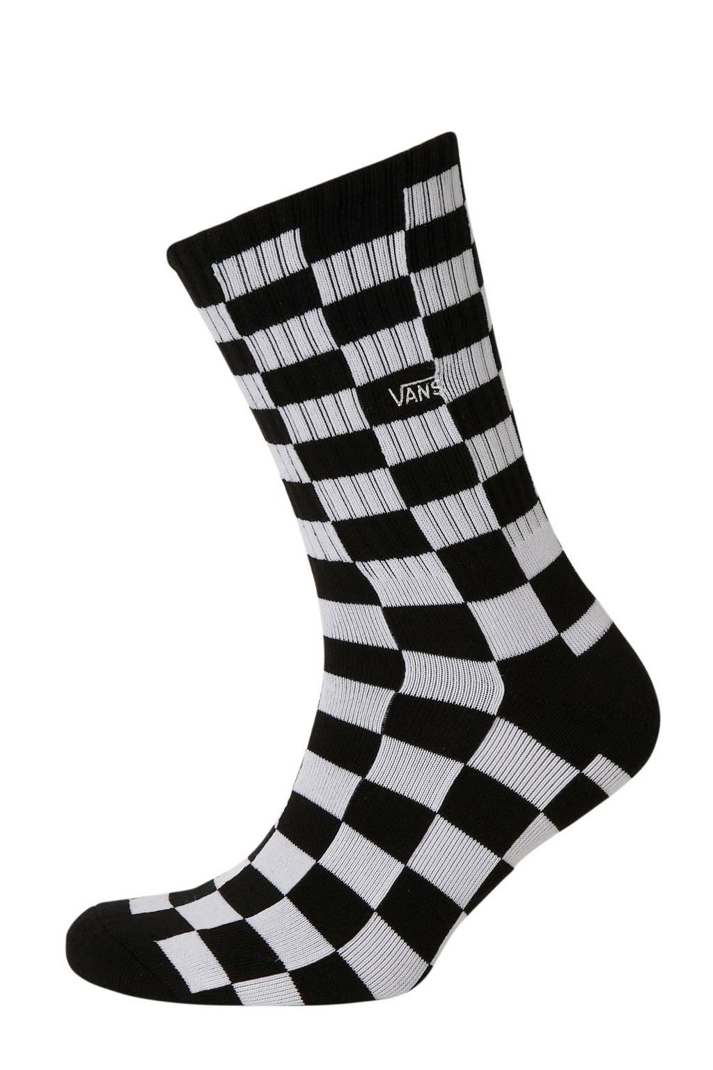 VANS   sportsokken zwart/wit (maat 38,5 - 42), Zwart/wit