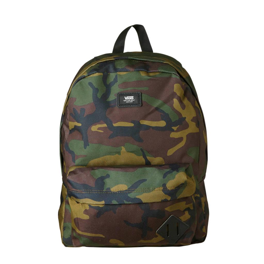 VANS   Old Skool III camouflage rugzak, Groen/bruin/zwart