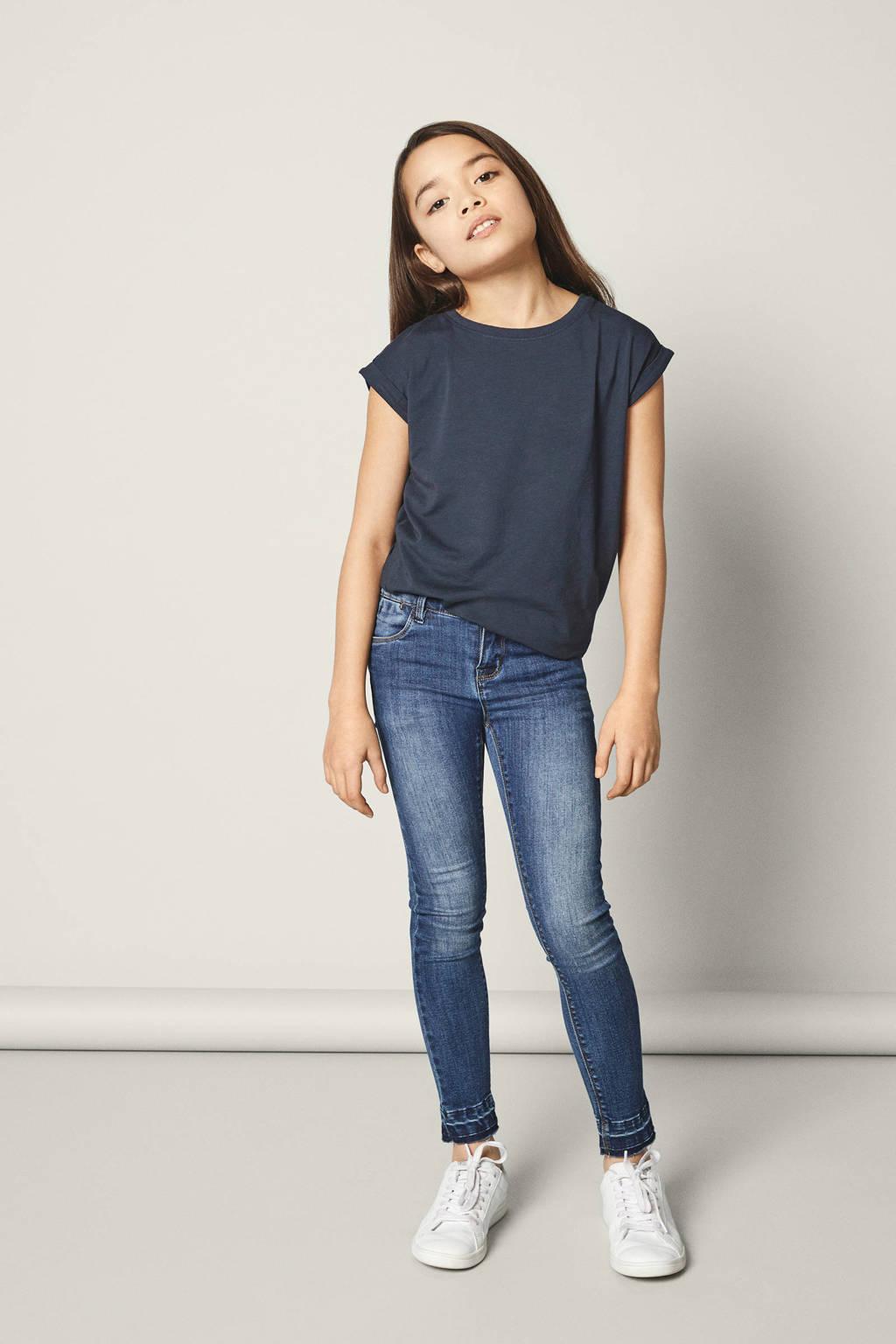 NAME IT KIDS super skinny jeans Polly 7/8 medium blue denim, Medium blue denim