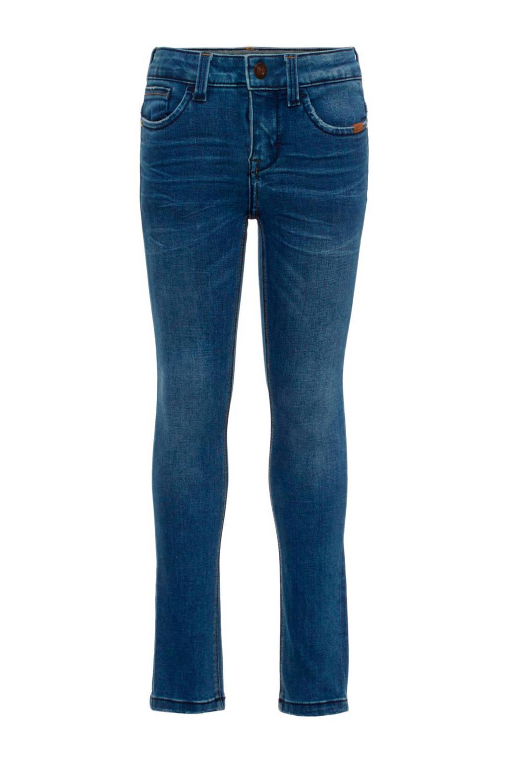 NAME IT KIDS skinny fit jeans Pete, Dark blue denim
