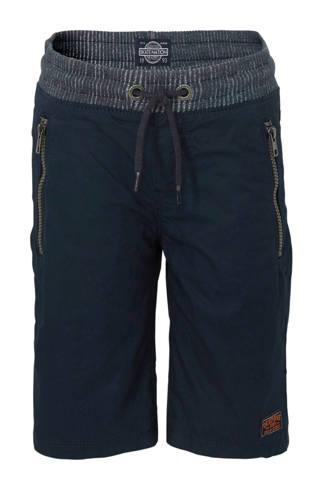 Here & There straight fit sweatshort donkerblauw