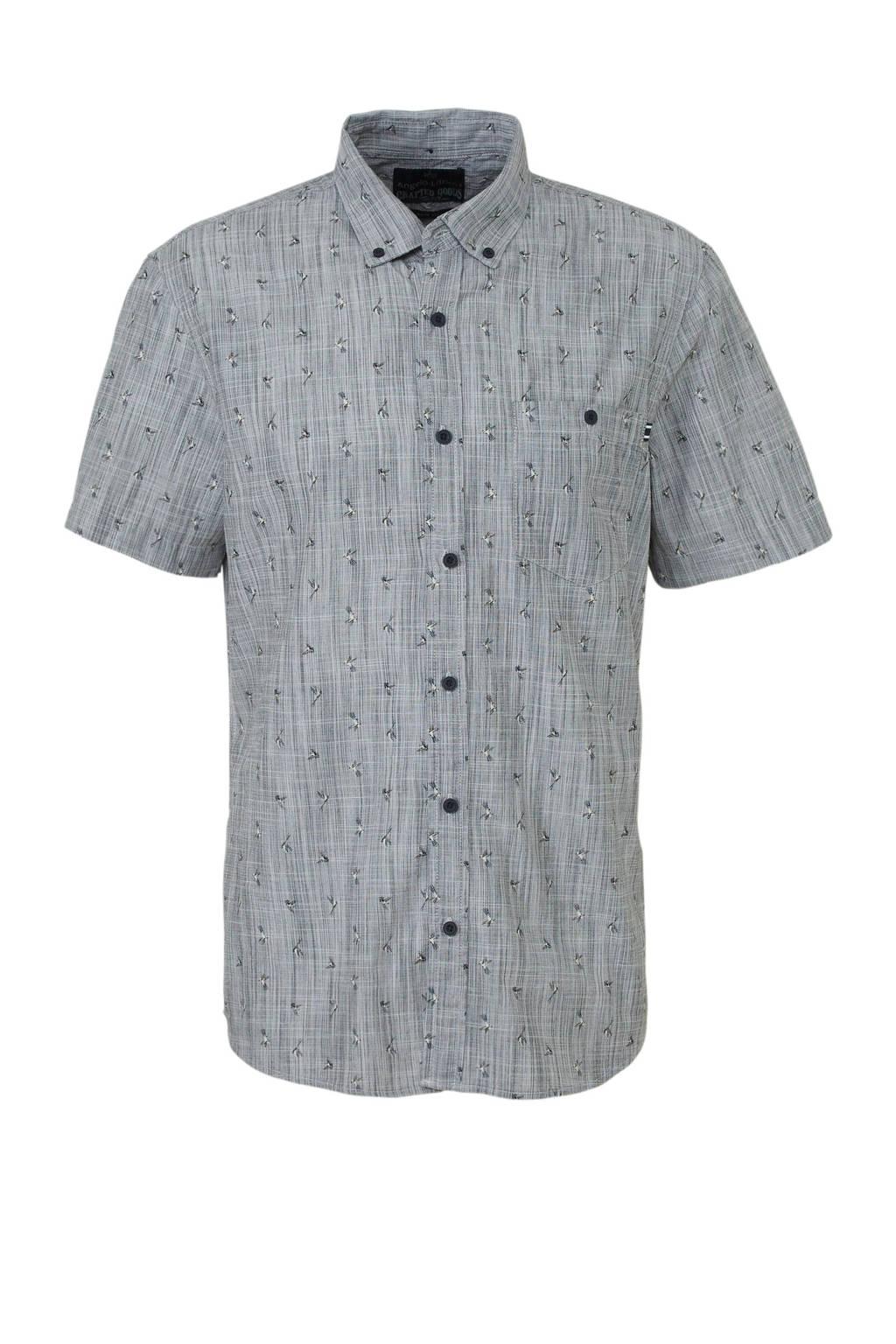 C&A Angelo Litrico regular fit overhemd met biologisch katoen grijs, Grijs
